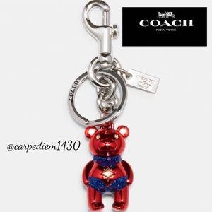 Coach Marvel Carol Danvers Bear Bag Charm